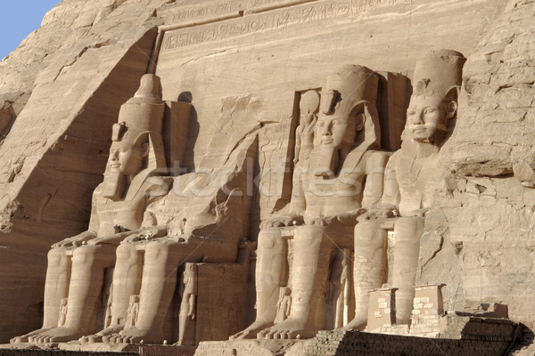 statues at Abu Simbel temples Stock photo © prill