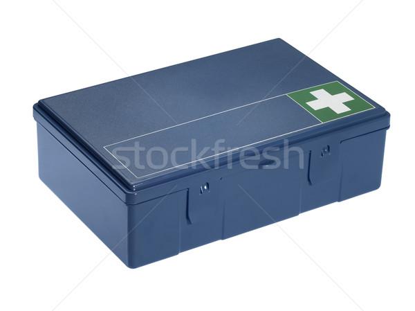blue ambulance box Stock photo © prill