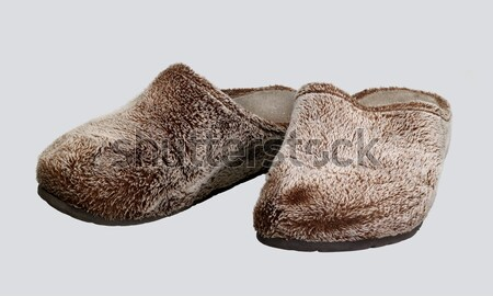 fluffy slippers Stock photo © prill