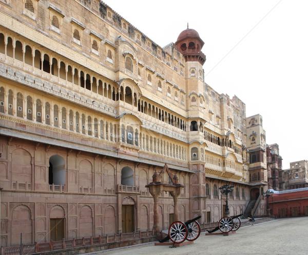 Fort città India costruzione strada architettura Foto d'archivio © prill