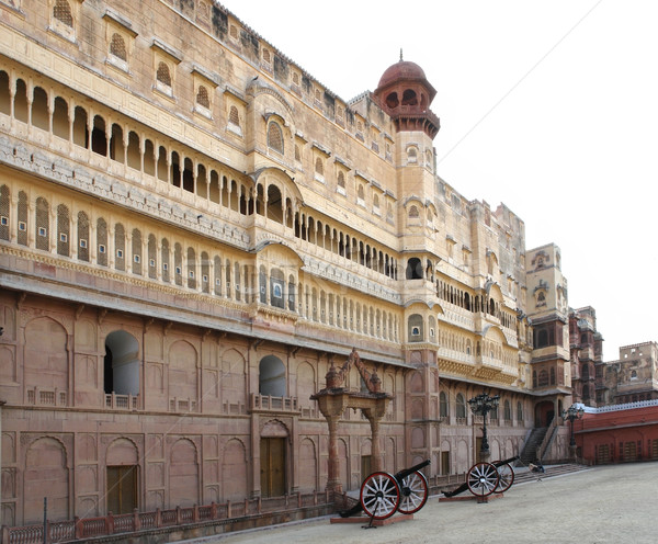 форт город Индия здании улице архитектура Сток-фото © prill