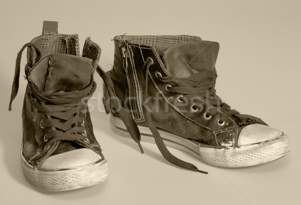 Stockfoto: Paar · warm · mode · schoenen · retro