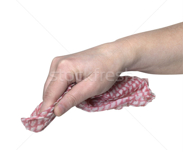 hand and cleaning cloth Stock photo © prill