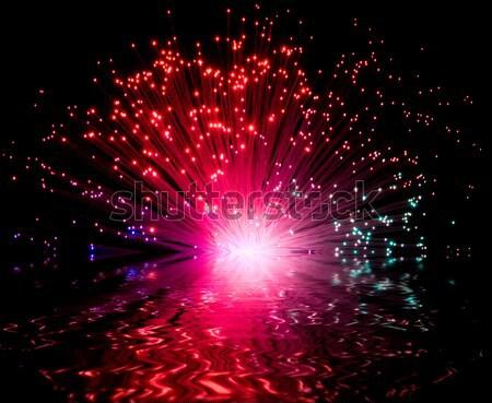 Plastique optique coloré sombre Retour Photo stock © prill