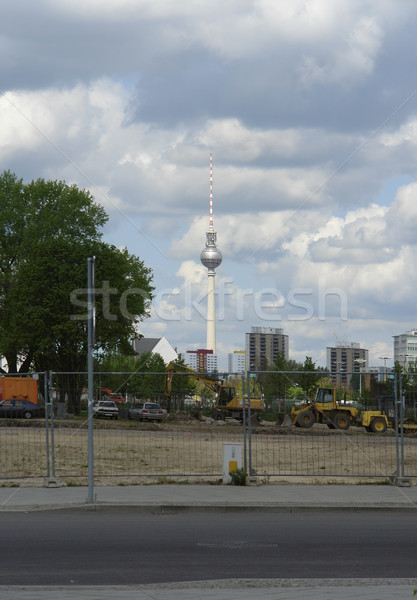 Berlin scenery with television tower Stock photo © prill