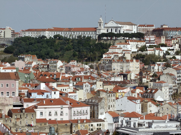 Lissabon stad Portugal huis bouw Stockfoto © prill