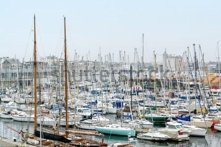 Porto cenário cidade mar oceano barco Foto stock © prill
