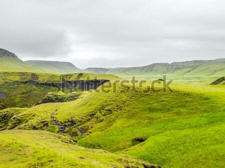 Manzara İzlanda terkedilmiş doğal çim doğa Stok fotoğraf © prill