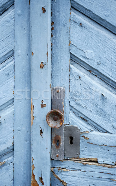 rundown blue door Stock photo © prill