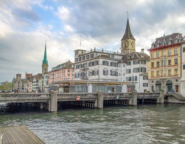 Zurich Suiza paisaje ciudad agua Foto stock © prill