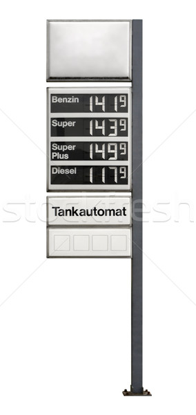 fuel price sign Stock photo © prill