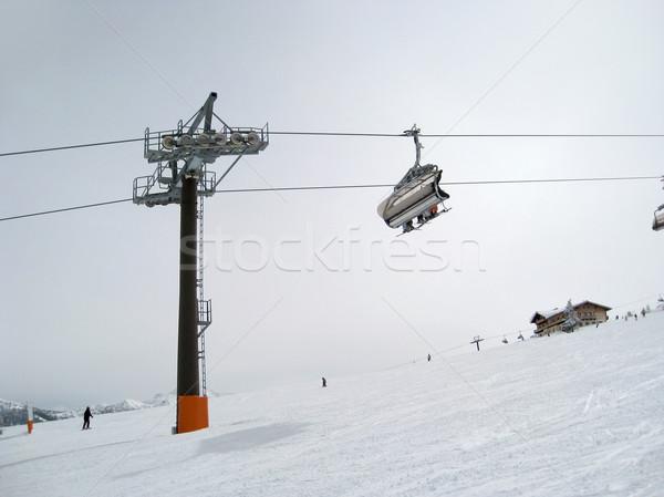 Сток-фото: лыжных · лифт · зима · декораций · лыжах · спорт