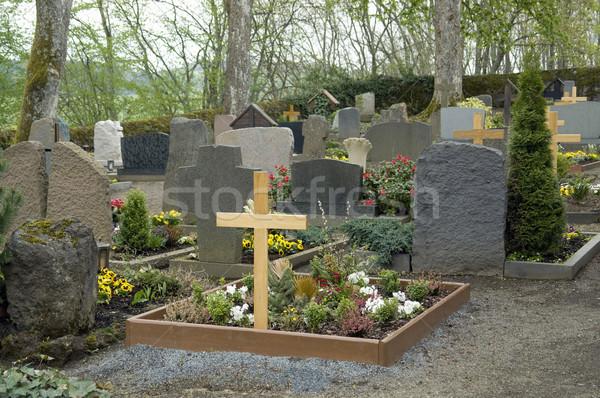 Kerkhof regio bergen Duitsland steen geschiedenis Stockfoto © prill