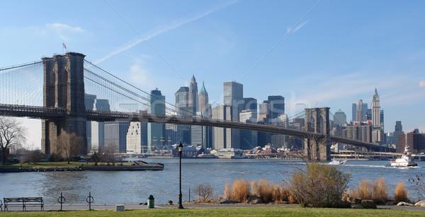 Brooklyn Bridge and New York Stock photo © prill