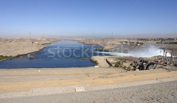 around Aswan Dam in Egypt Stock photo © prill