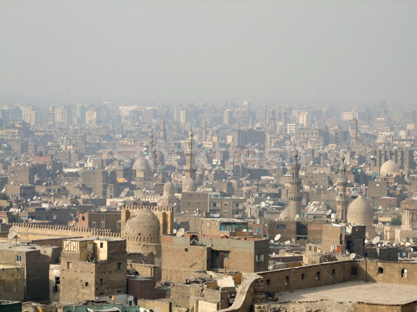 Cairo aerial view with smog Stock photo © prill