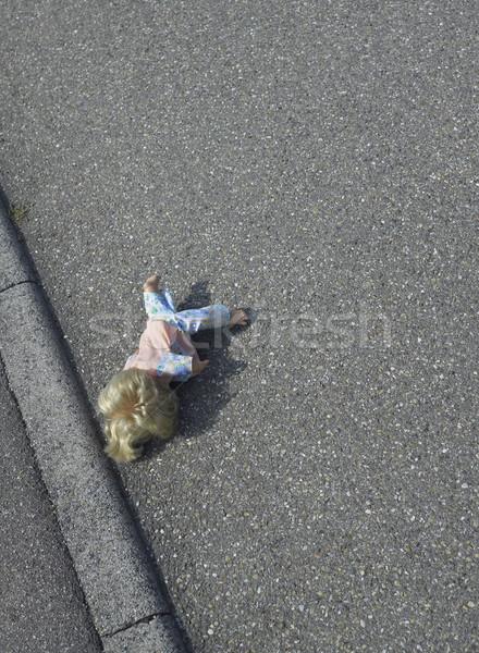 Bebek sokak lies yol yüzey güneşli Stok fotoğraf © prill