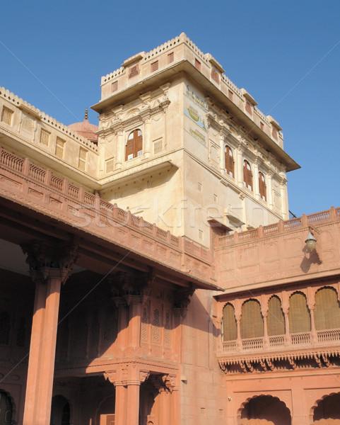 砦 詳細 市 インド 建物 壁 ストックフォト © prill