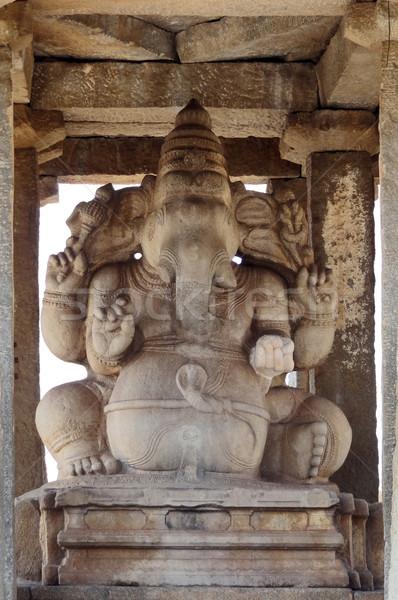 sculpture at Kadalekalu Ganesha Temple Stock photo © prill