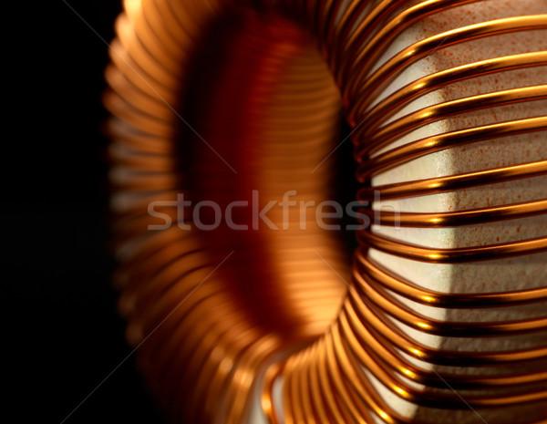 подробность электронных темно назад металл электроэнергии Сток-фото © prill