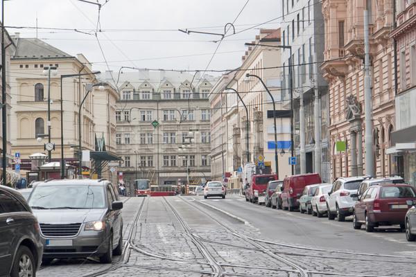 впечатление Прага Чешская республика дома автомобилей Сток-фото © prill