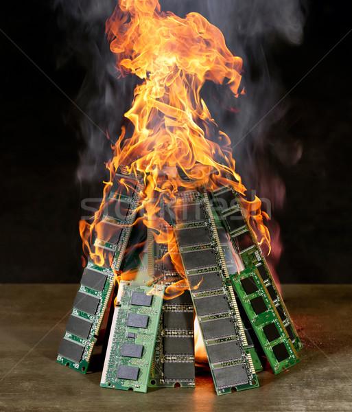 burning pile of RAM Stock photo © prill