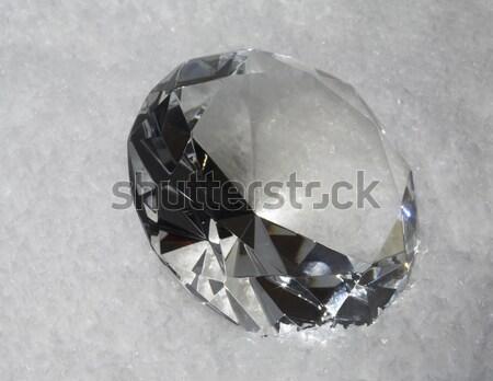 diamond in light grey back Stock photo © prill