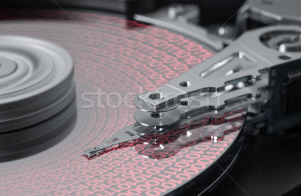 symbolic hard disk and data detail Stock photo © prill