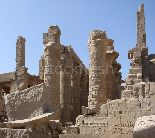 stone remains around Precinct of Amun-Re Stock photo © prill