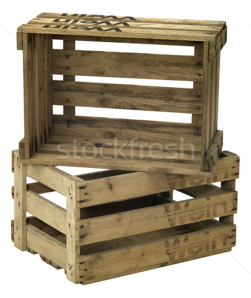 wooden wine crate Stock photo © prill