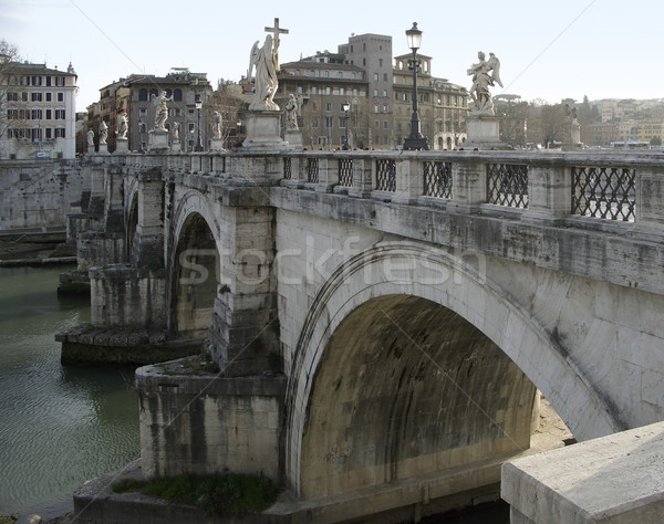 ponte saint angelo in Rome Stock photo © prill