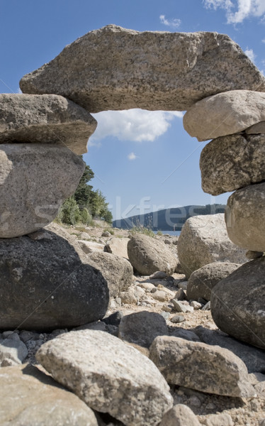 Stock photo: pebble archway at summer time