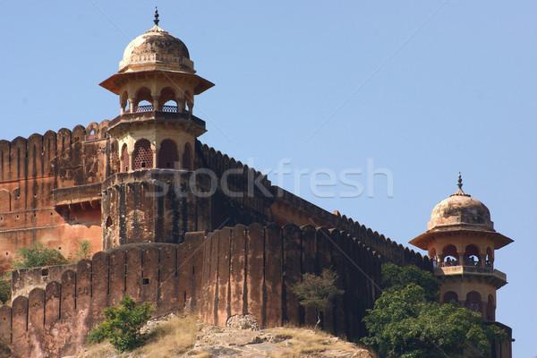 砦 インド 時間 壁 城 ストックフォト © prill