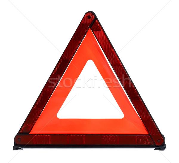 Seguridad flexible blanco atrás seguridad naranja Foto stock © prill