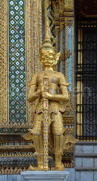 Saray altın heykel Bangkok Tayland Bina Stok fotoğraf © prill