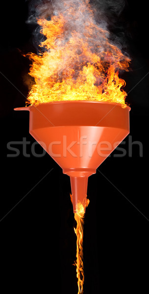 funnel and fire Stock photo © prill