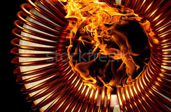 burning inductor Stock photo © prill