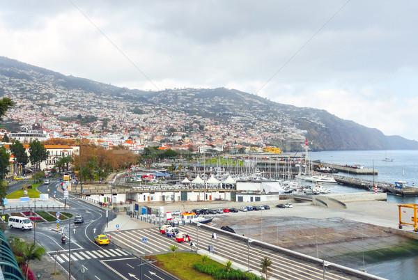 Madeira manzara etrafında şehir ada Bina Stok fotoğraf © prill