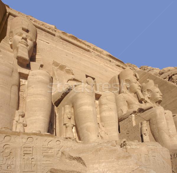 Alulról fotózva építészeti részlet történelmi Egyiptom Afrika kő Stock fotó © prill