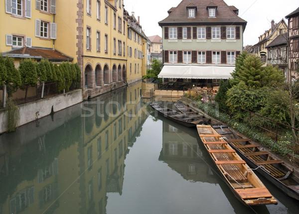 Kanaal boten landschap huis klein houten Stockfoto © prill