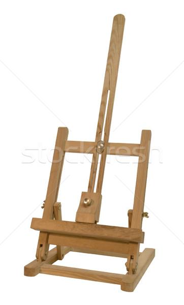 Fából készült festőállvány kicsi asztal fehér hát Stock fotó © prill