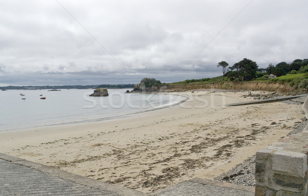 Pembe granit sahil pastoral sahil manzara Stok fotoğraf © prill