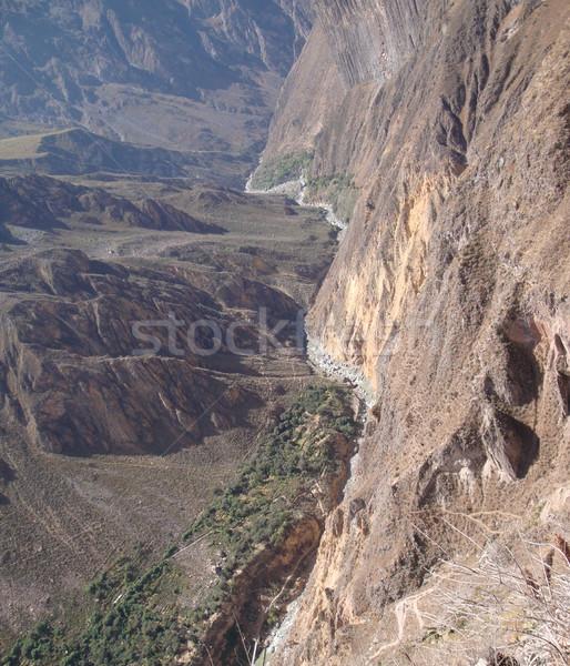 Canyon scenario Perù sud america natura verde Foto d'archivio © prill