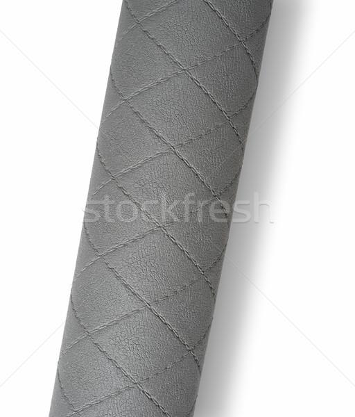 Roulé gris surface isolé blanche Photo stock © prill