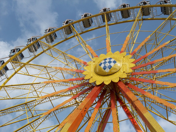 big wheel in front of blue sky Stock photo © prill