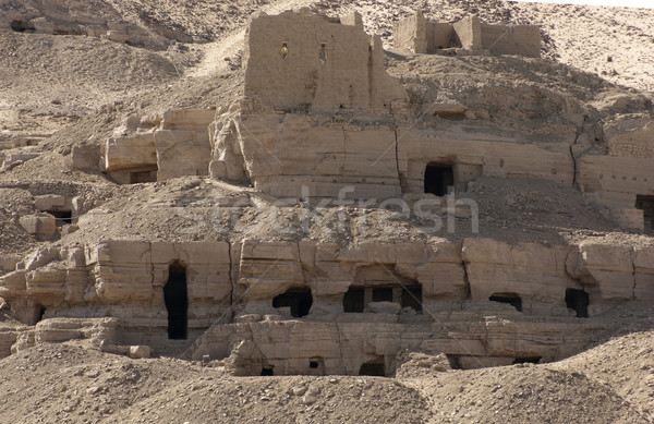 rock cut tombs near Aswan Stock photo © prill