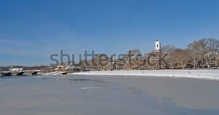 Cambridge cenário inverno tempo ensolarado em torno de Foto stock © prill