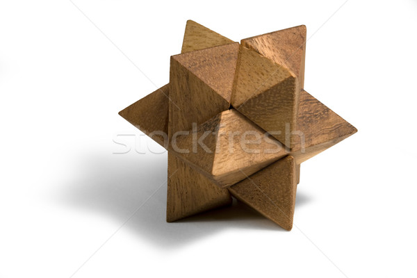 wooden 3D puzzle Stock photo © prill