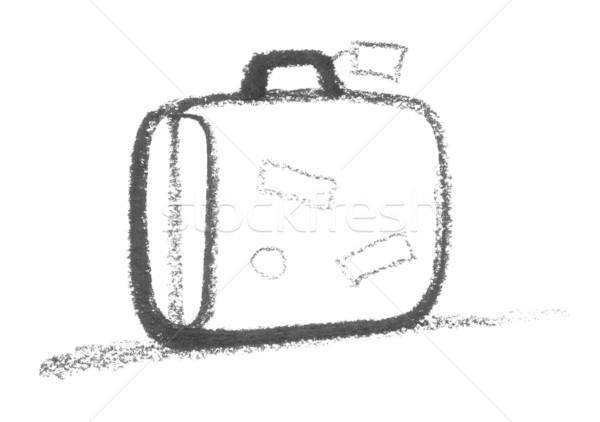 Mala arte assinar desenho caso esboço Foto stock © prill