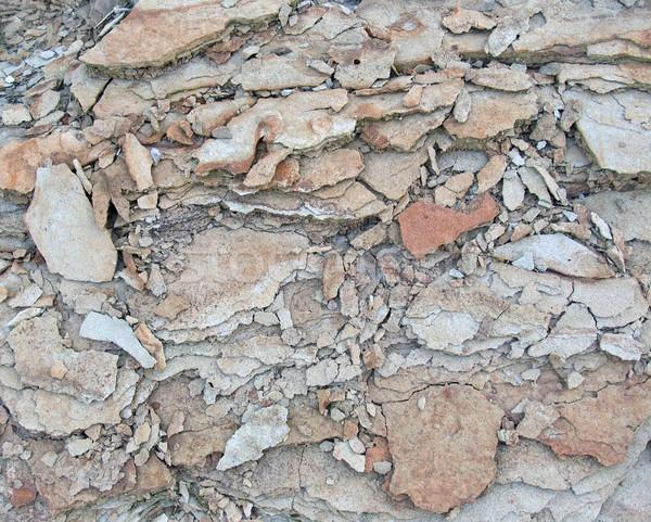 broken stone back Stock photo © prill